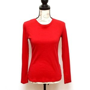 Cherokee Tee T Shirt Top Womens XL Red Long Sleeve